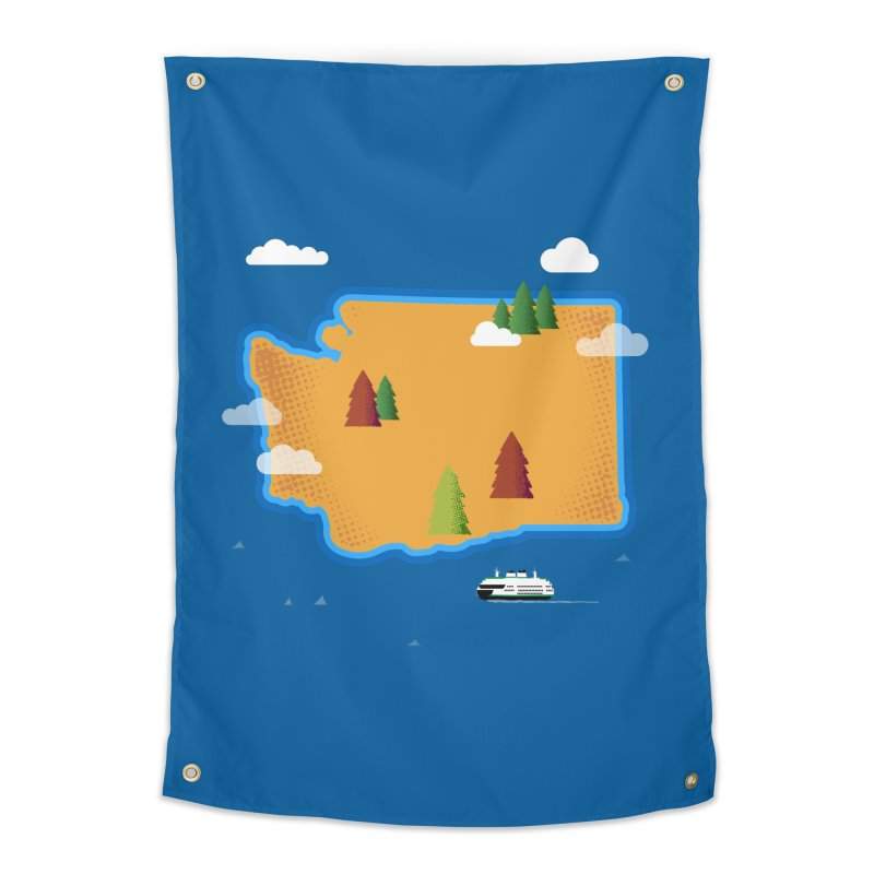 Washington Island Home Tapestry by Phillustrations's Artist Shop