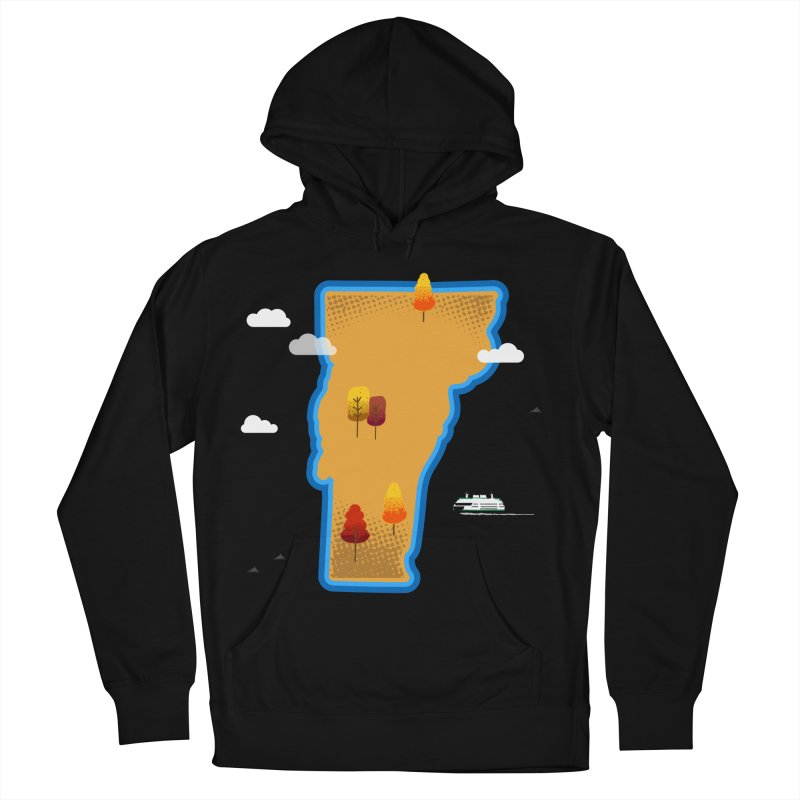 Vermont Island Men's Pullover Hoody by Phillustrations's Artist Shop