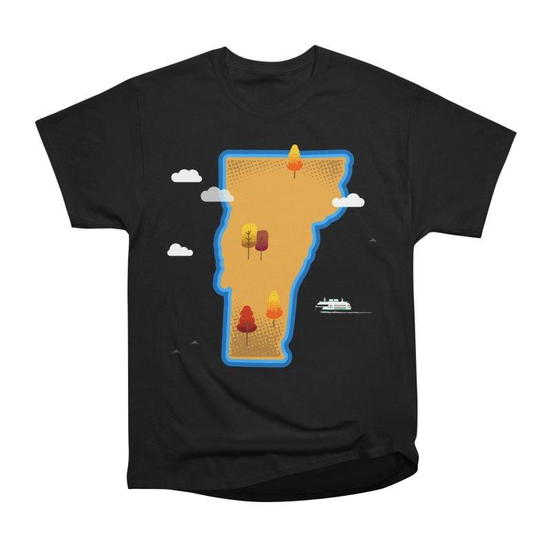 Vermont Island Women's Heavyweight Unisex T-Shirt by Phillustrations's Artist Shop
