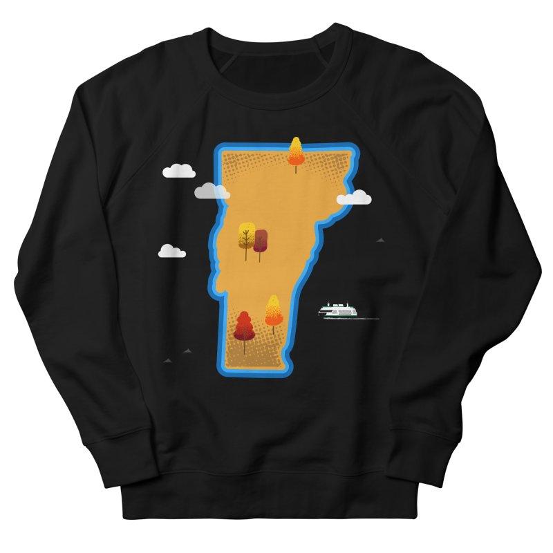 Vermont Island Men's Sweatshirt by Phillustrations's Artist Shop