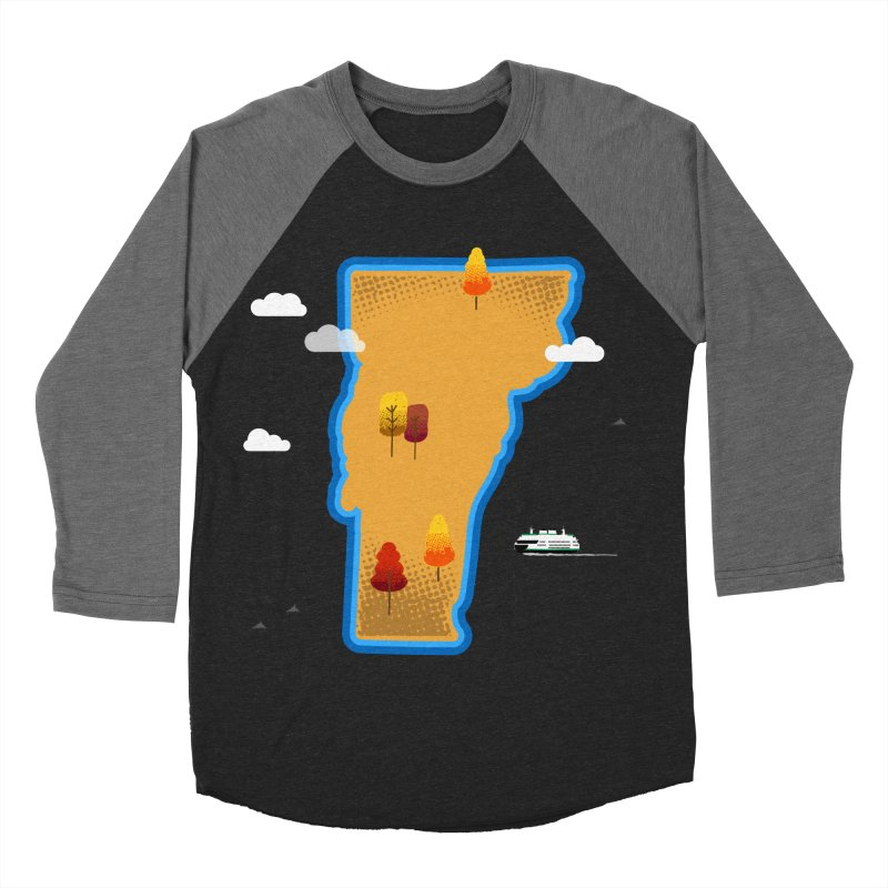 Vermont Island Women's Baseball Triblend Longsleeve T-Shirt by Illustrations by Phil