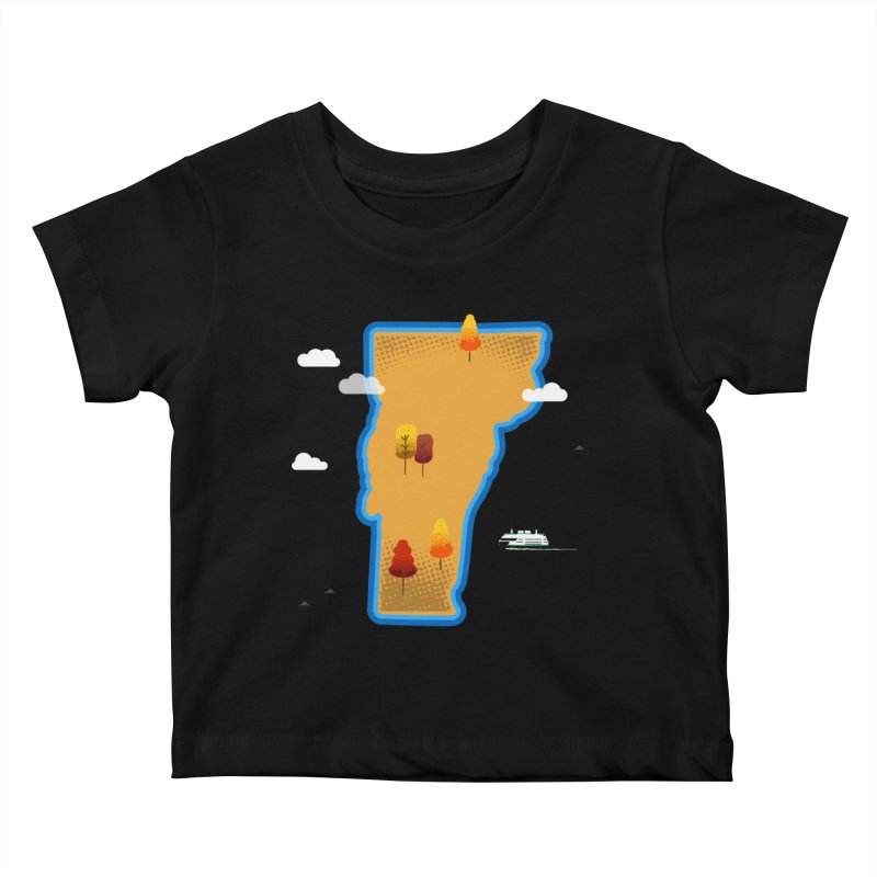 Vermont Island Kids Baby T-Shirt by Illustrations by Phil