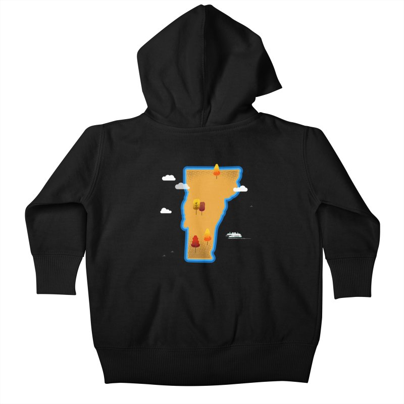Vermont Island Kids Baby Zip-Up Hoody by Illustrations by Phil