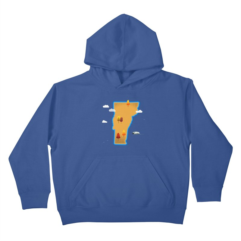 Vermont Island Kids Pullover Hoody by Illustrations by Phil