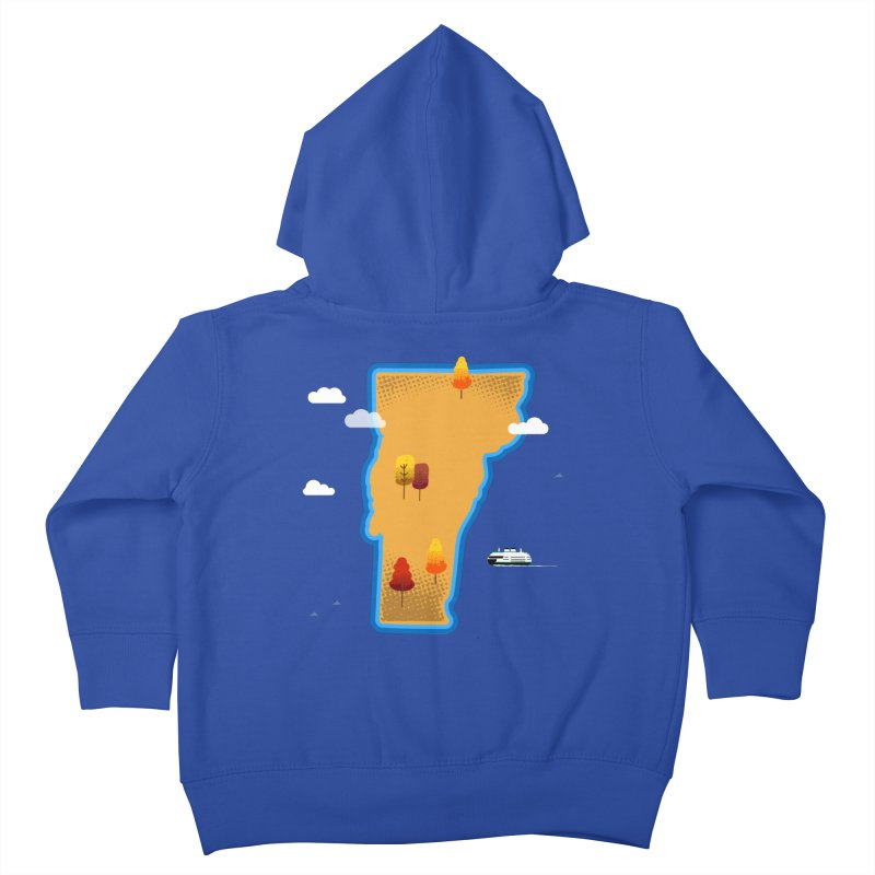 Vermont Island Kids Toddler Zip-Up Hoody by Phillustrations's Artist Shop