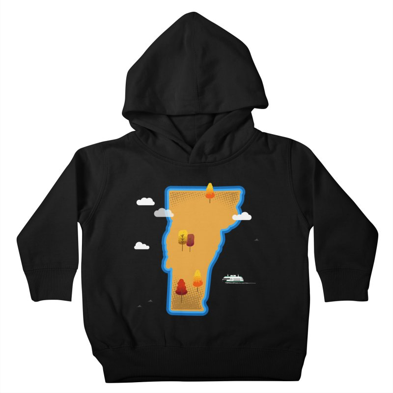 Vermont Island Kids Toddler Pullover Hoody by Phillustrations's Artist Shop