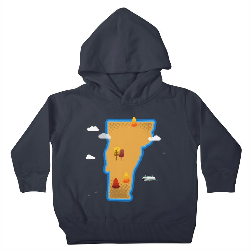 Vermont Island Kids Toddler Pullover Hoody by Illustrations by Phil