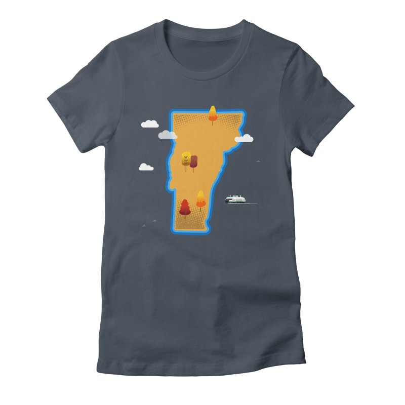 Vermont Island Women's Fitted T-Shirt by Phillustrations's Artist Shop