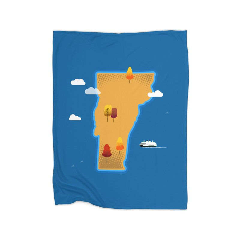 Vermont Island Home Blanket by Phillustrations's Artist Shop