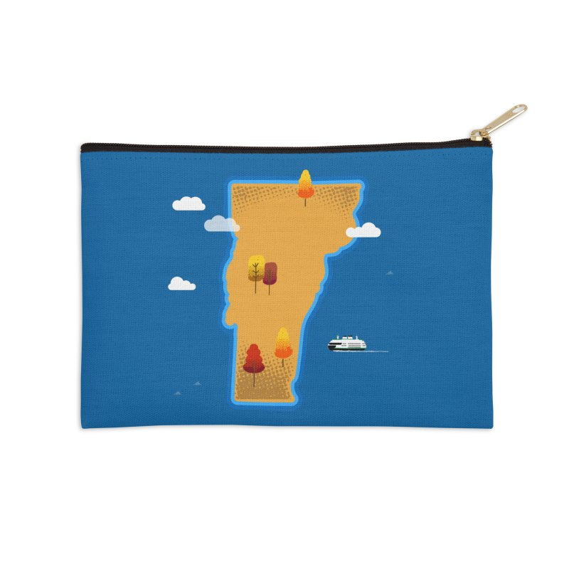 Vermont Island Accessories Zip Pouch by Phillustrations's Artist Shop
