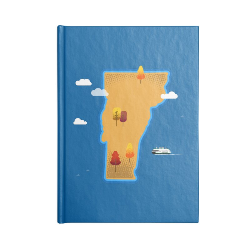 Vermont Island Accessories Notebook by Phillustrations's Artist Shop