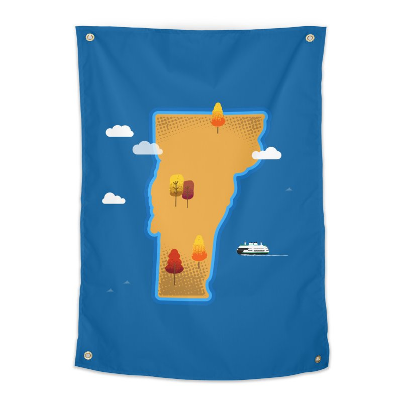 Vermont Island Home Tapestry by Phillustrations's Artist Shop