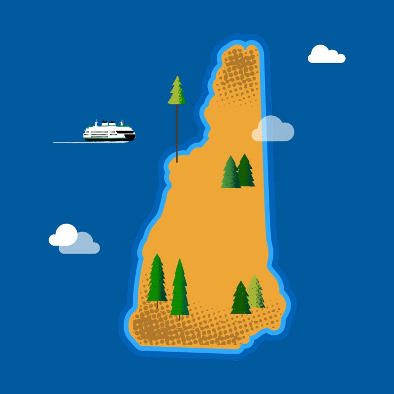 New Hampshire Island   by Illustrations by Phil