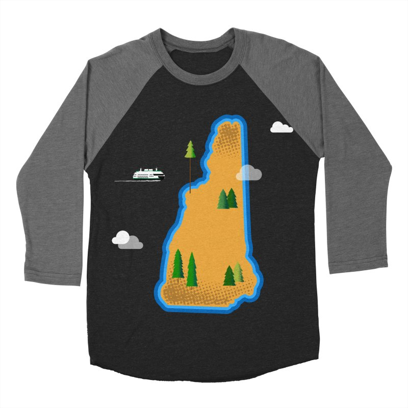 New Hampshire Island Men's Baseball Triblend Longsleeve T-Shirt by Illustrations by Phil