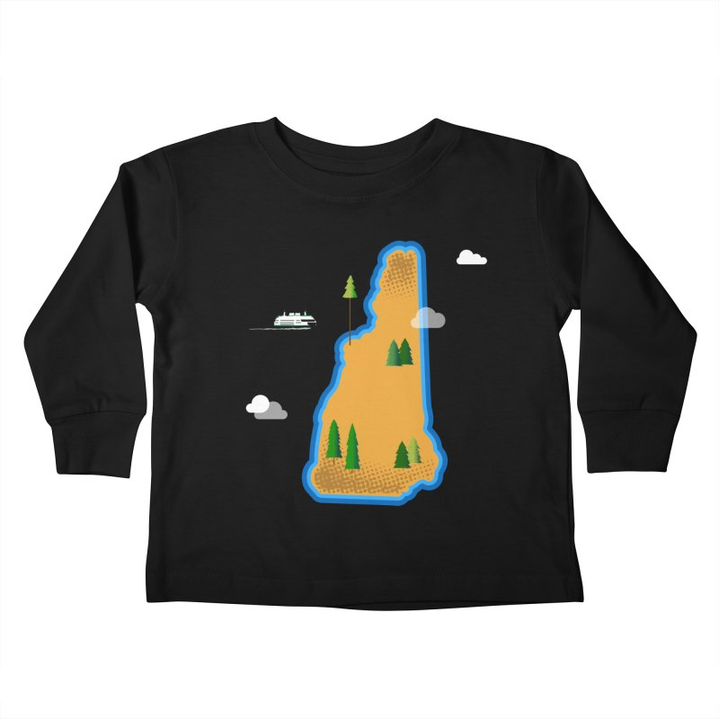 New Hampshire Island Kids Toddler Longsleeve T-Shirt by Illustrations by Phil