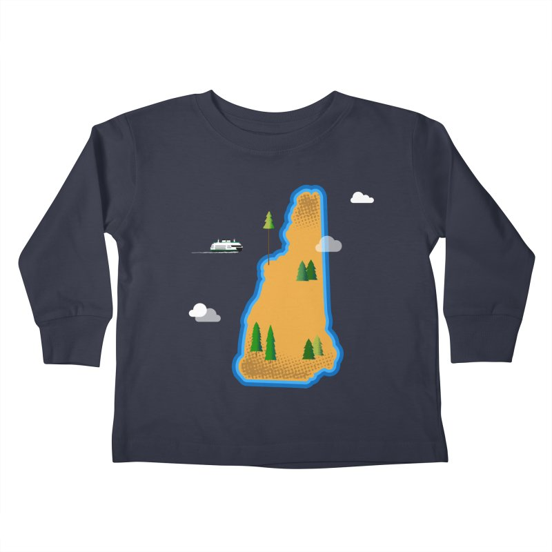 New Hampshire Island Kids Toddler Longsleeve T-Shirt by Phillustrations's Artist Shop