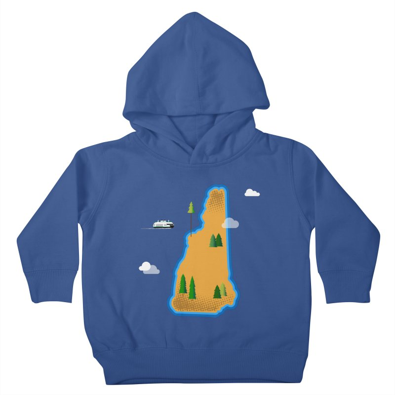 New Hampshire Island Kids Toddler Pullover Hoody by Illustrations by Phil