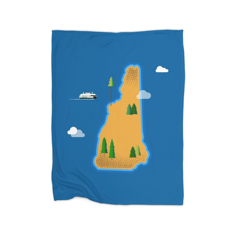 New Hampshire Island Home Blanket by Phillustrations's Artist Shop
