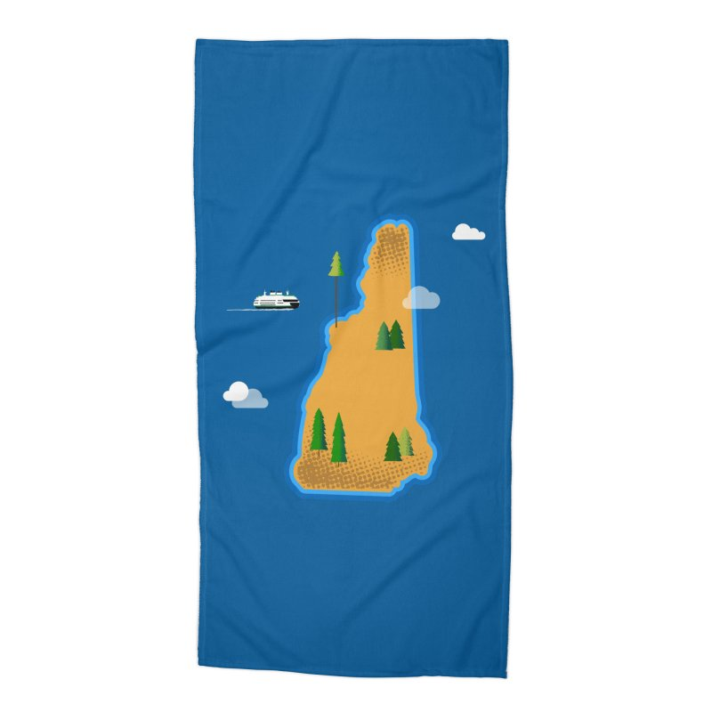 New Hampshire Island Accessories Beach Towel by Phillustrations's Artist Shop