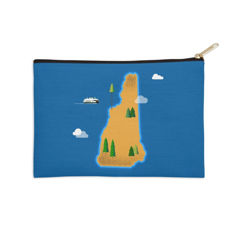 New Hampshire Island Accessories Zip Pouch by Phillustrations's Artist Shop