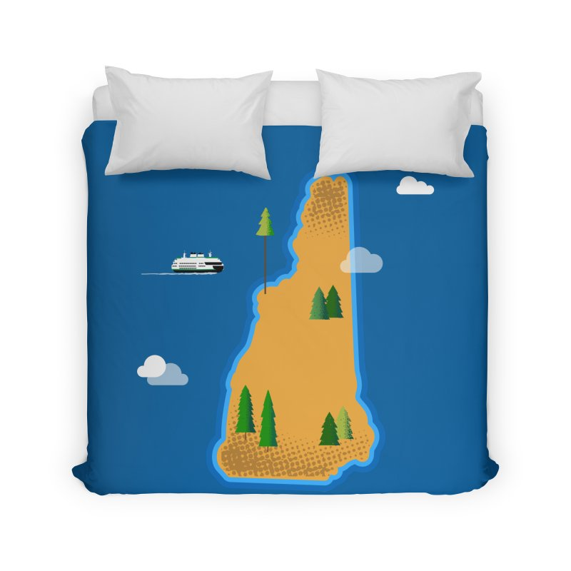 New Hampshire Island Home Duvet by Phillustrations's Artist Shop