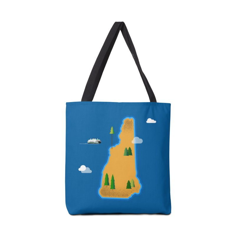 New Hampshire Island Accessories Bag by Phillustrations's Artist Shop