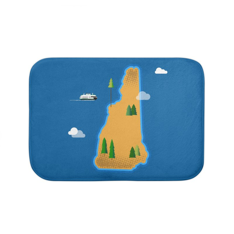 New Hampshire Island Home Bath Mat by Phillustrations's Artist Shop