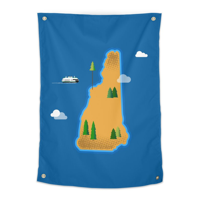 New Hampshire Island Home Tapestry by Phillustrations's Artist Shop