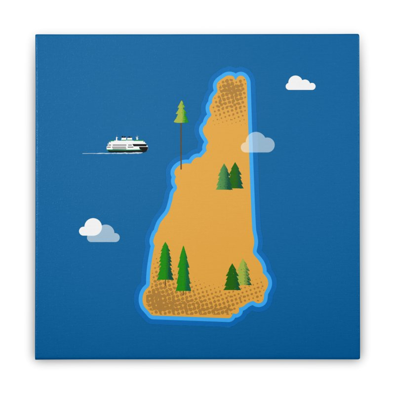 New Hampshire Island Home Stretched Canvas by Phillustrations's Artist Shop