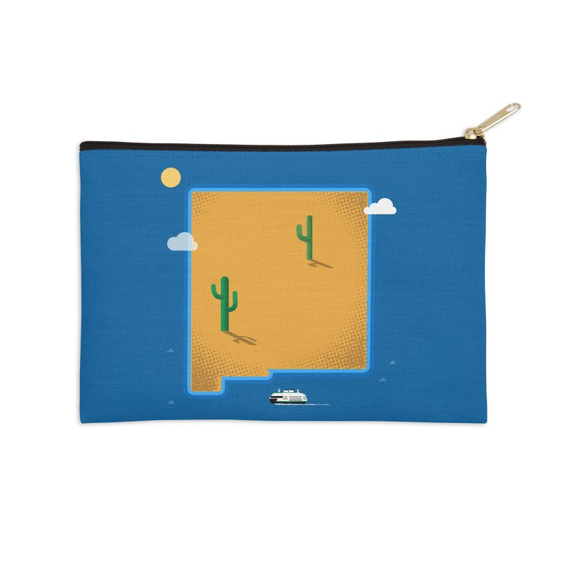 New Mexico Island Accessories Zip Pouch by Phillustrations's Artist Shop