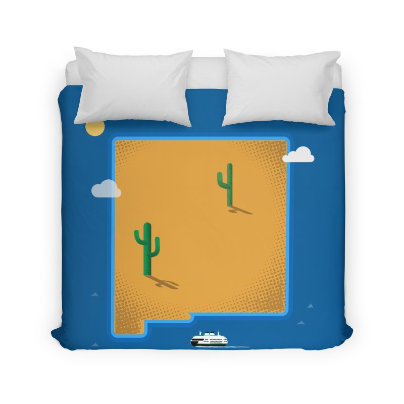 New Mexico Island Home Duvet by Phillustrations's Artist Shop
