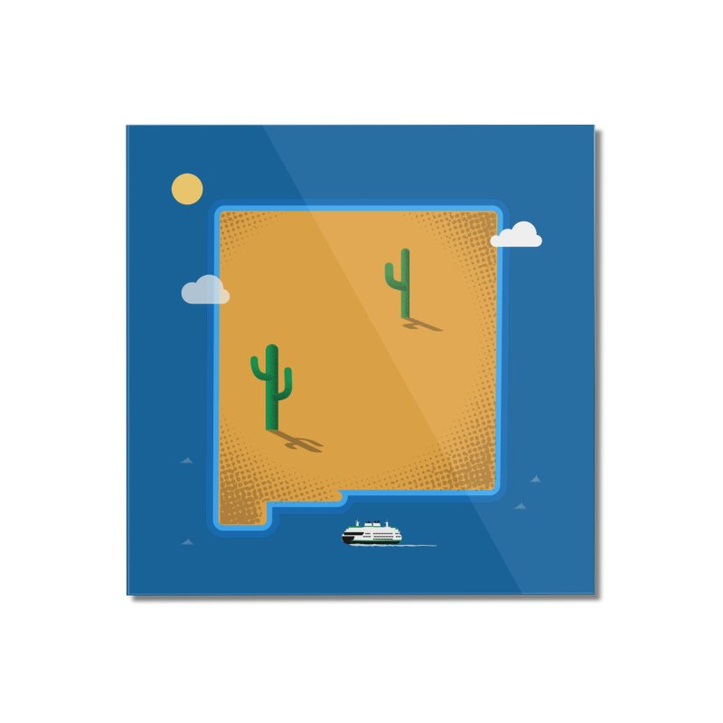 New Mexico Island Home Mounted Acrylic Print by Phillustrations's Artist Shop