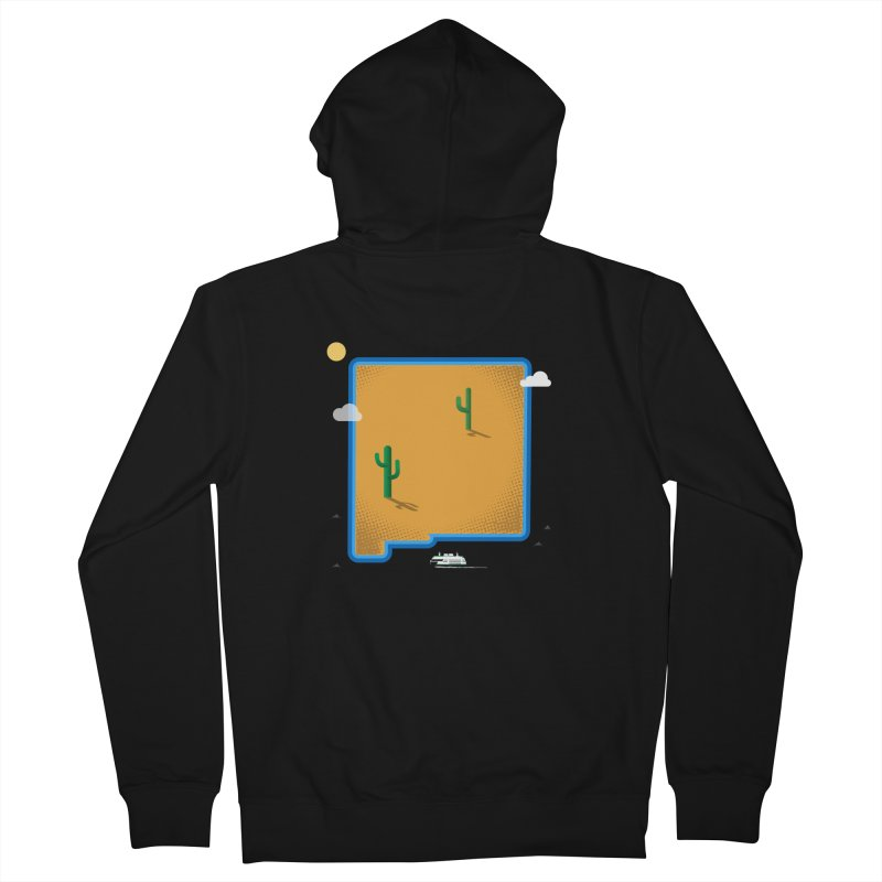 New Mexico Island Men's Zip-Up Hoody by Phillustrations's Artist Shop