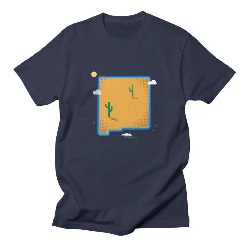 New Mexico Island Men's T-Shirt by Phillustrations's Artist Shop
