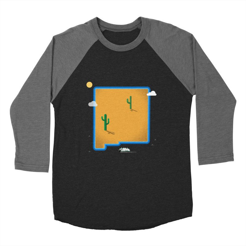 New Mexico Island Men's Baseball Triblend Longsleeve T-Shirt by Illustrations by Phil
