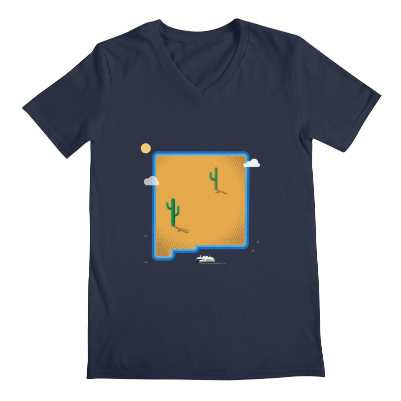 New Mexico Island Men's V-Neck by Phillustrations's Artist Shop