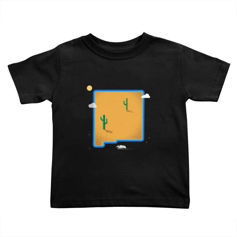 New Mexico Island Kids Toddler T-Shirt by Illustrations by Phil
