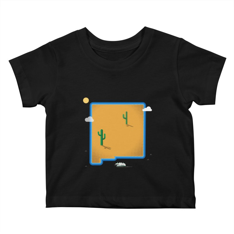 New Mexico Island Kids Baby T-Shirt by Illustrations by Phil
