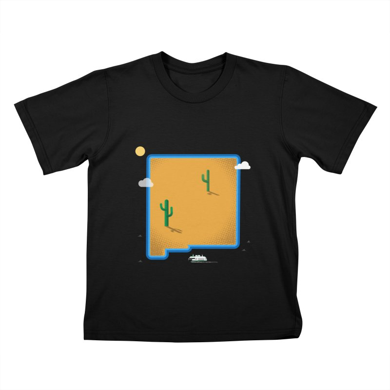 New Mexico Island Kids T-Shirt by Illustrations by Phil