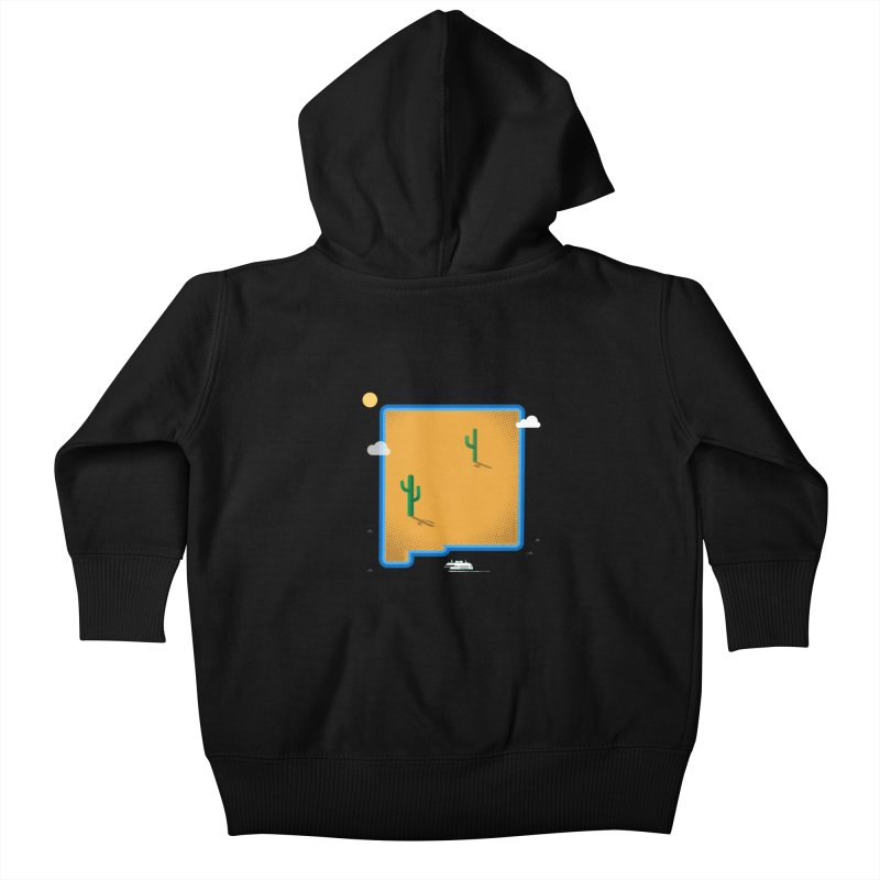New Mexico Island Kids Baby Zip-Up Hoody by Illustrations by Phil