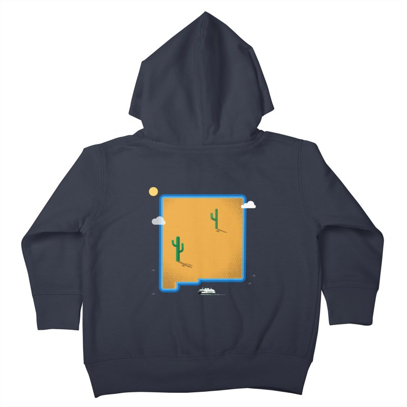 New Mexico Island Kids Toddler Zip-Up Hoody by Phillustrations's Artist Shop