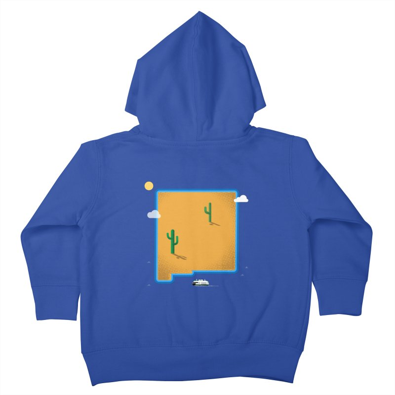New Mexico Island Kids Toddler Zip-Up Hoody by Illustrations by Phil