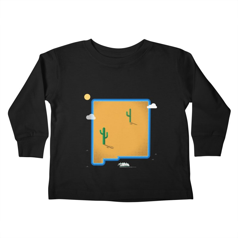 New Mexico Island Kids Toddler Longsleeve T-Shirt by Phillustrations's Artist Shop