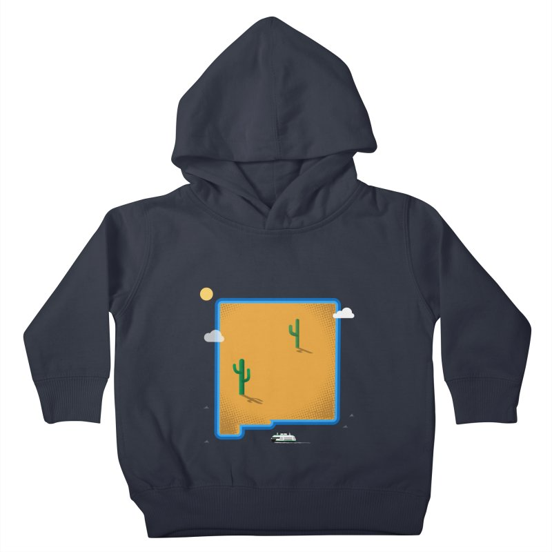 New Mexico Island Kids Toddler Pullover Hoody by Illustrations by Phil