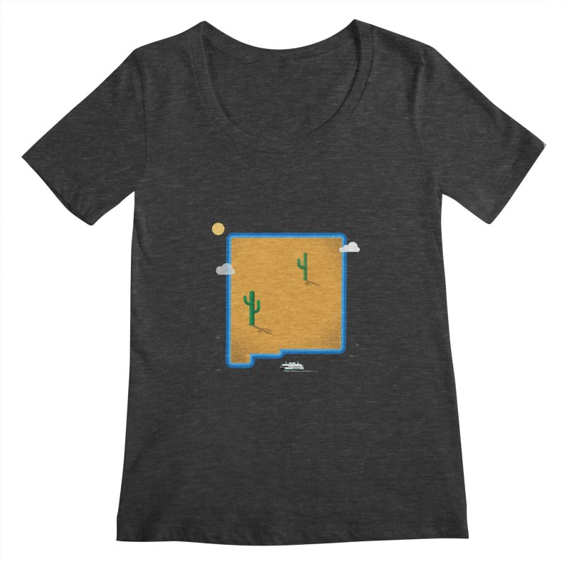 New Mexico Island Women's Scoopneck by Phillustrations's Artist Shop