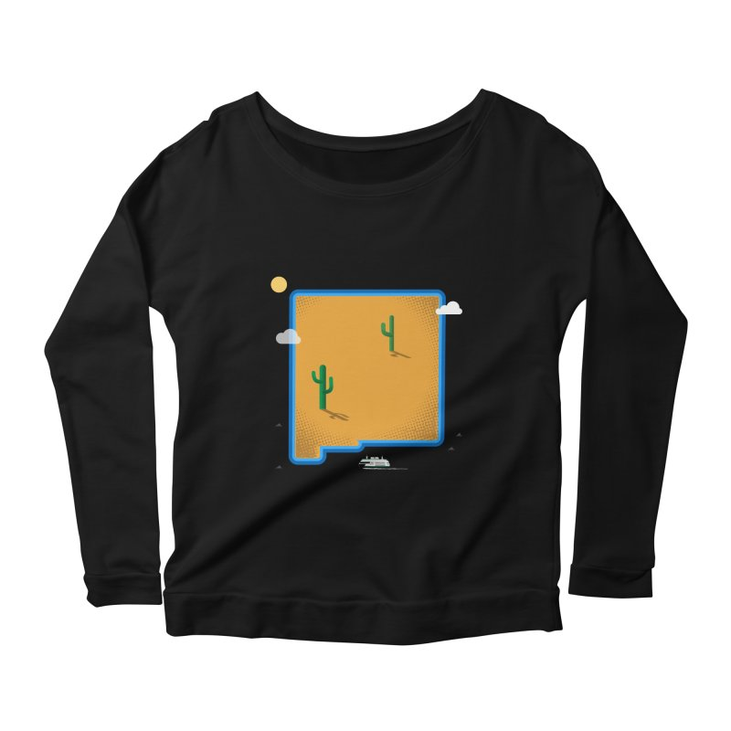 New Mexico Island Women's Scoop Neck Longsleeve T-Shirt by Illustrations by Phil