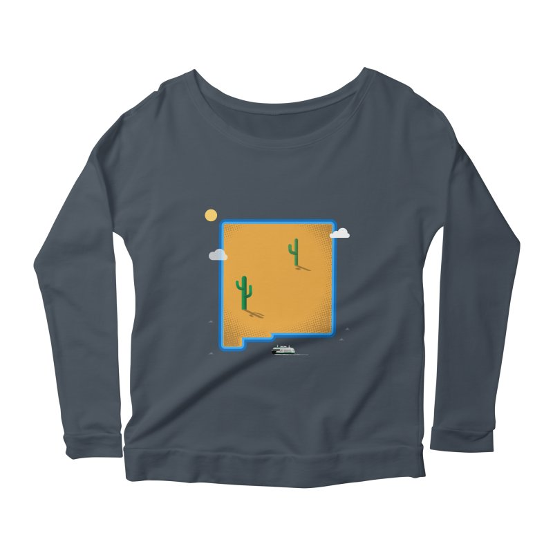 New Mexico Island Women's Longsleeve Scoopneck  by Phillustrations's Artist Shop