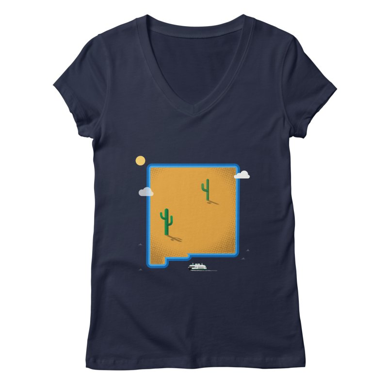 New Mexico Island Women's Regular V-Neck by Illustrations by Phil