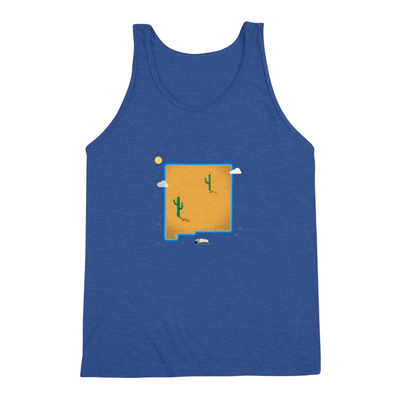 New Mexico Island Men's Tank by Illustrations by Phil