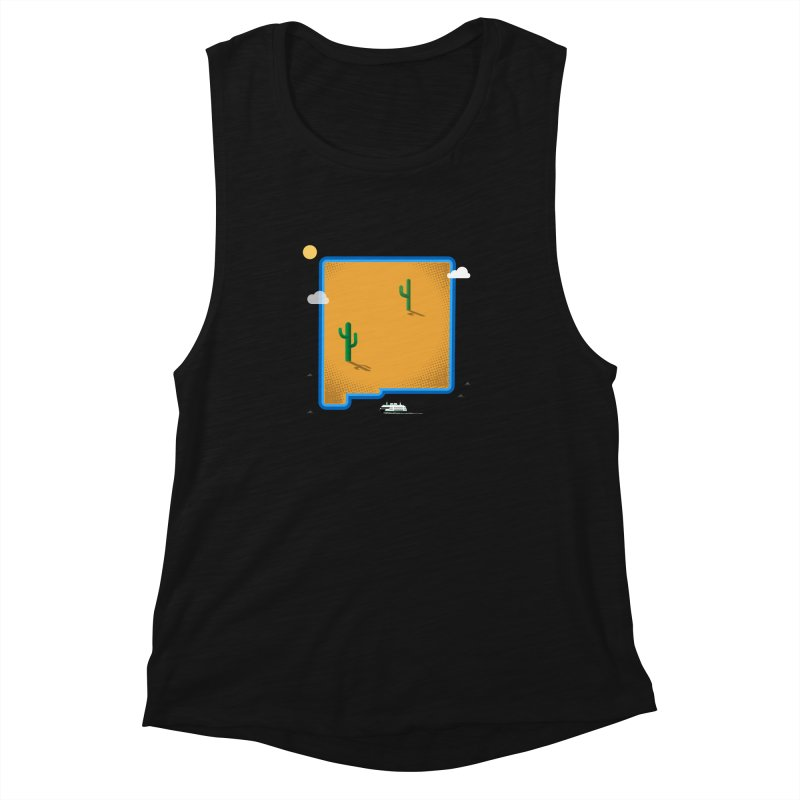 New Mexico Island Women's Muscle Tank by Illustrations by Phil